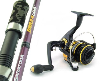 SARATOGA 6'6 3-5kg Graphite Spinning Fishing Rod and Reel Combo Bream PRESALE