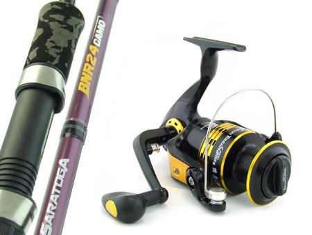 SARATOGA 6'6 8kg Graphite Spinning Fishing Rod and Reel Combo Snapper PRESALE