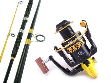 SARATOGA 12'0 15kg Surf Beach Spinning Fishing Rod and Reel Combo Salmon Snapper
