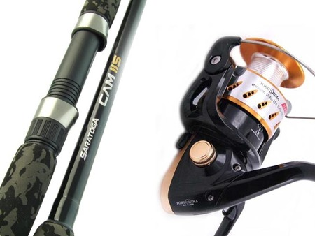 SARATOGA 6'6 15kg Snapper Boat Spinning Fishing Rod and Reel Combo Kingfish