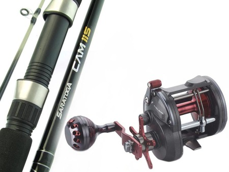 SARATOGA 6'6 15kg Overhead Trolling Jigging Fishing Rod and Reel Combo Snapper