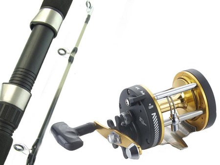 SARATOGA 6'6 15kg Overhead Trolling Boat Fishing Rod and Reel Combo Snapper Tuna