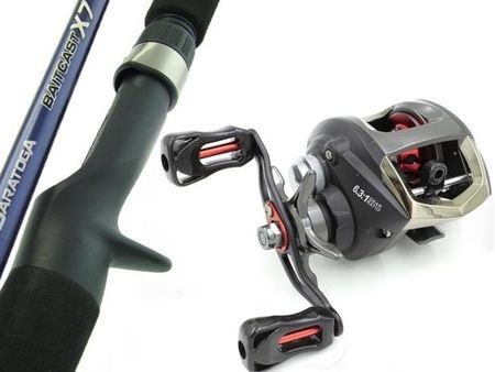 SARATOGA 6kg 6'0 Baitcaster Low Profile Fishing Rod and Reel Combo Barra Presale