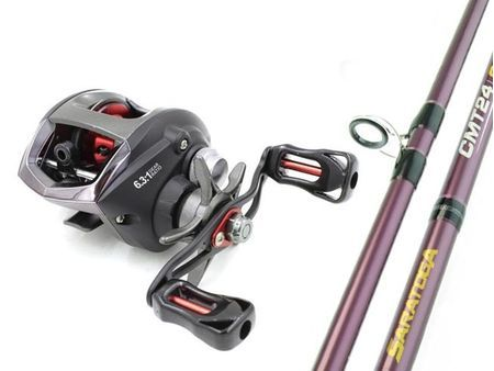 SARATOGA 6'0 6kg Baitcaster Low Profile Fishing Rod and Reel Combo Barra LEFT