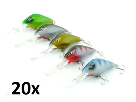 20x SARATOGA Tournament Crank Minnow 12gm 9.5cm Cod/Bass/Flathead Fishing Lures