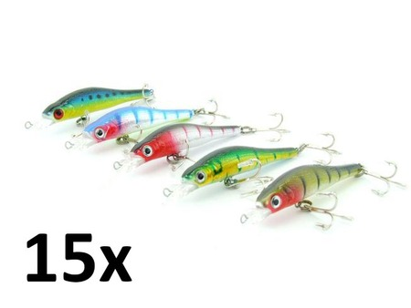 15x SARATOGA Tournament Deep Diving 6gm 9.5cm Salmon/Tailor Fishing Lures