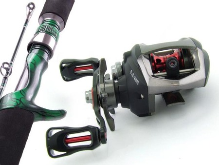 SARATOGA 6'3 10kg Baitcast Overhead Fishing Rod and Reel Combo Baitcaster Barra