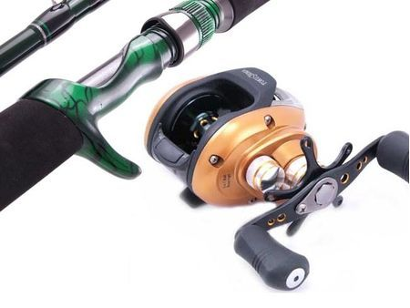 SARATOGA 6'3 10kg Low Profile Baitcast Fishing Rod and Reel Combo Baitcaster