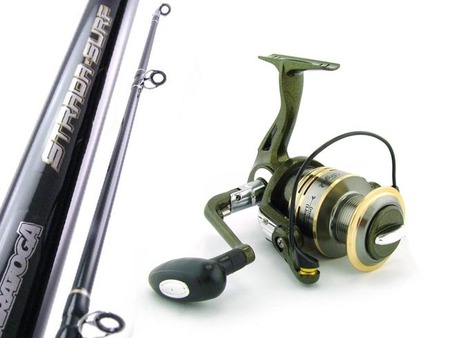 SARATOGA Big Beach Surf 12'0 15kg 7BB Spinning Fishing Rod and Reel Combo Tailor