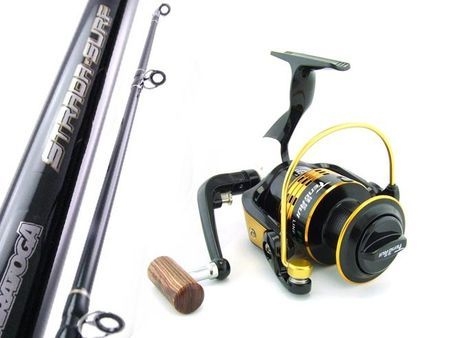 SARATOGA Big Beach Surf 12'0 15kg 8BB Spinning Fishing Rod and Reel Combo Tailor