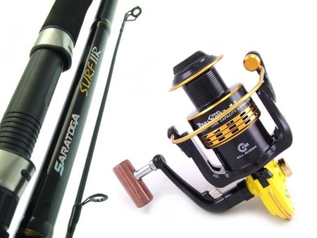 SARATOGA SURF IIR 12kg 8'0 Rock Beach Spinning Fishing Rod and Reel Combo Salmon