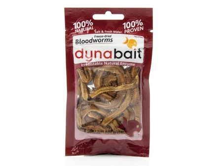 Dynabait Dry Bloodworms Natural Enzyme Fishing Dry Bait Salt Fresh Water