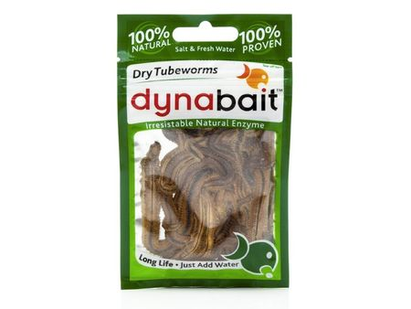 Dynabait Dry Tubeworms Natural Enzyme Fishing Dry Bait Salt Fresh Water