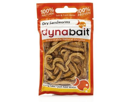 Dynabait Dry Sandworms Natural Enzyme Fishing Dry Bait Salt Fresh Water