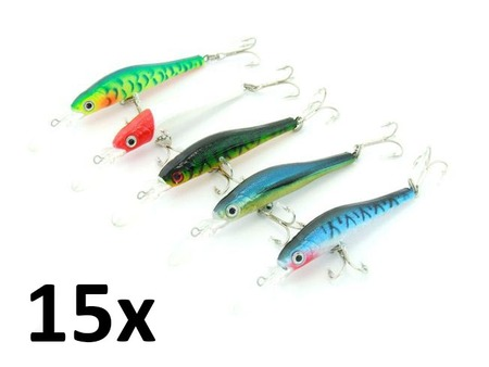 15x Pack SARATOGA Tournament Deep Diving 6gm 9.5cm Salmon Fishing Lures