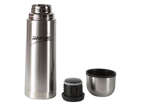 Vango Stainless Steel Vacuum Thermos Flask Screw Top Cup Cold Hot Drink Camping